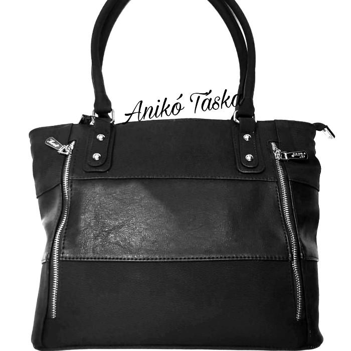Karen női táska cipzárdíszes fekete