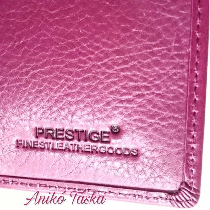 Málna rózsaszínű kártyatartós keretes bőr női pénztárca a9eb2da5a2