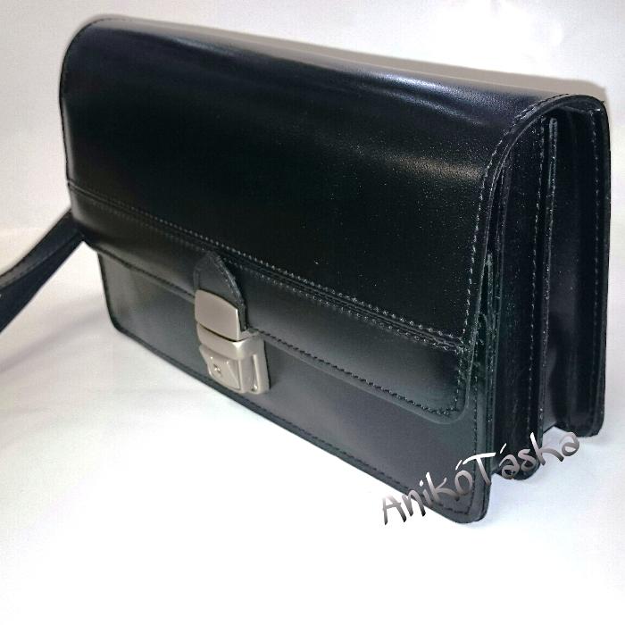 Bőr autós táska férfi fekete